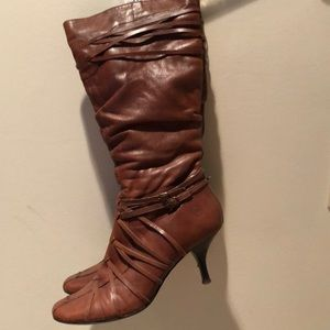 Bronx brown leather boots